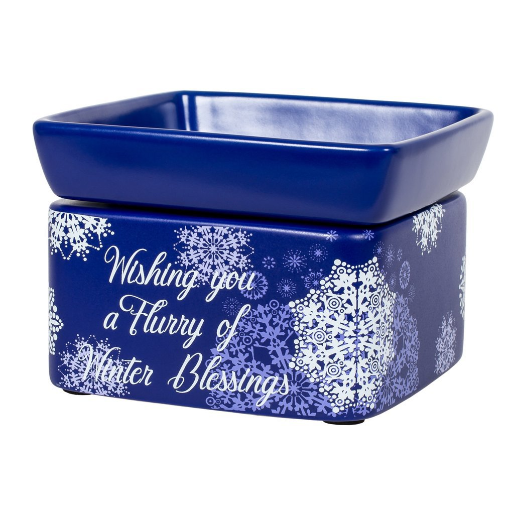 Blue Christmas Winter Blessings Electric 2 in 1 Jar Candle, Wax & Oil Warmer