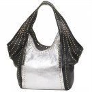 Black & Silver Studded Shoulder Bag