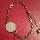 Irish pre-decimal coin jewellery bracelet