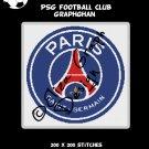 PSG (Paris Saint-Germain) Football Club logo crochet graphghan pattern