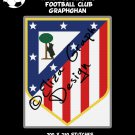 Atletico Madrid Football Club logo crochet graphghan pattern