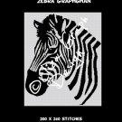 Zebra Crochet Graphghan Blanket Pattern