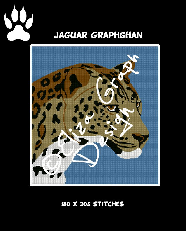 Jaguar Crochet Graphghan Blanket Pattern