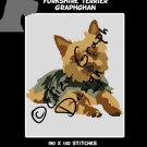 Yorkshire terrier Crochet Graphghan Blanket Pattern