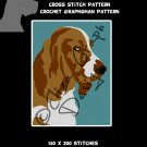 English Cocker Spaniel CROSS STITCH Pattern, CROCHET Graphghan Blanket Pattern