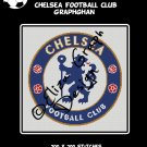 Chelsea Football Club logo crochet graphghan blanket pattern