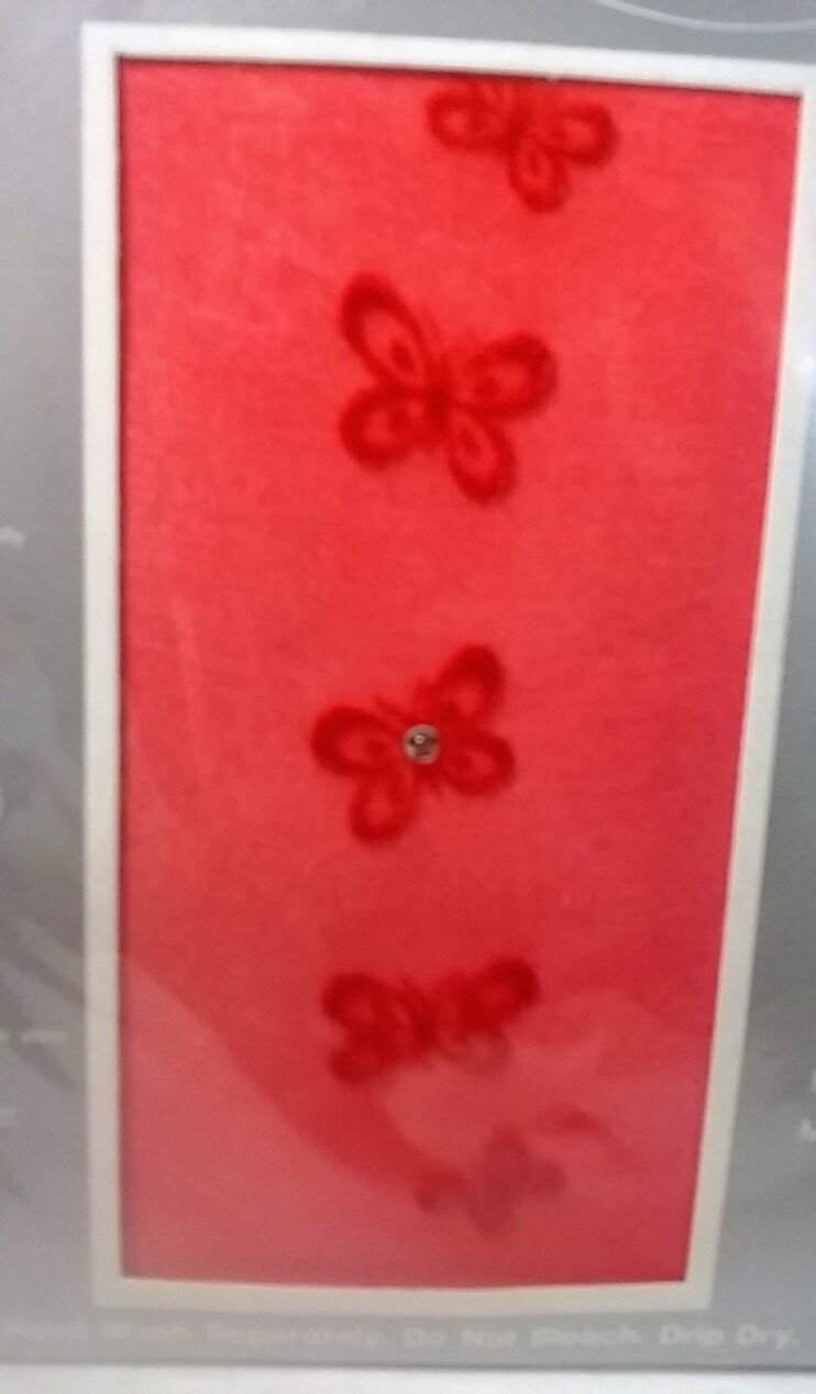 Fashion panty hose red  butterflies and rhinestone 100% nylon Soxland  Hosiery
