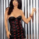Strapless Underwire Corset Style Leather Mini Dress Size: 3X (Plus Size Lingerie)