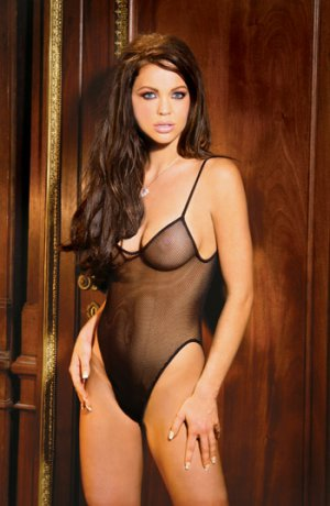 Fishnet teddy Black O/S Queen (Plus Size Lingerie)