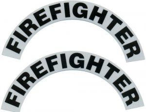 Reflective Helmet Crescent - FIREFIGHTER