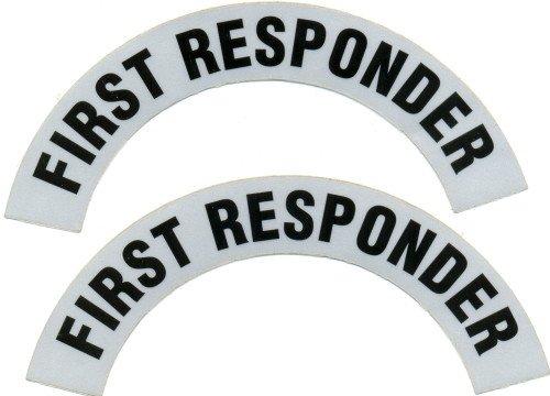 Reflective Helmet Crescent - FIRST RESPONDER