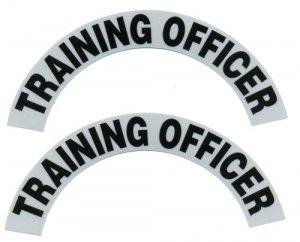 Reflective Helmet Crescent - TRAINING OFFICER