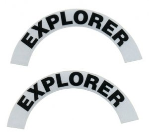Reflective Helmet Crescent - EXPLORER