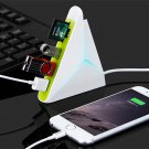 3-in-1 3-Port USB 2.0 Hub with SD TF Micro SD Card Reader White & Green