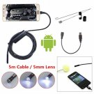 5M 6-LED 5.5mm Lens IP67 Waterproof Android Video Endoscope Borescope Snake USB Inspection Camera
