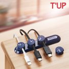 Bcase TUP Magnetic Desktop Cable Clips Cord Navy Blue