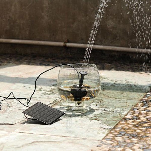 1W Direct-current Brushless Solar Panel Power Submersible Fountain Pond Water Pump Black