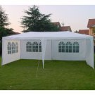3m x 6m EZ POP UP Wedding Tent Party Foldable Gazebo 4 Wall Canopy With Tent Pegs White