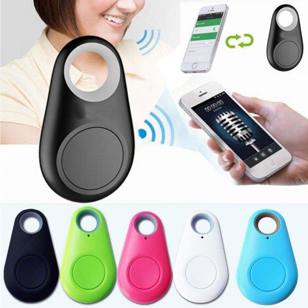 2-in-1 Bluetooth 4.0 GPS Tracker Self-Portrait Anti-lost Alarm Device Black