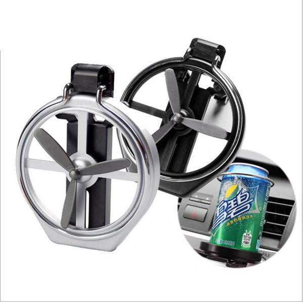 Car Air Outlet Drink Holder With Small Fan