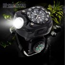 E-SMARTER Tactical CREE XPE LED Flashlight Wrist Watch