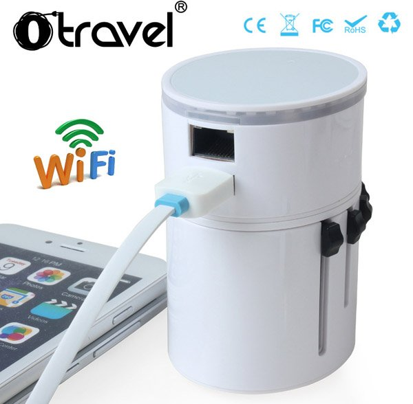 OTRAVEL Universal Conversion Plug Socket / Travel Charger With WIFI