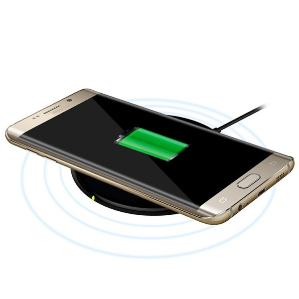 Universal Qi Standard Wireless Charger for Smartphones Black