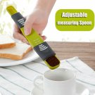 Adjustable Measuring Spoon with Scale Kitchen Baking Cooking Tools Baking Accessory Green
