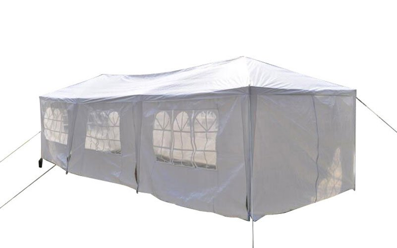 10 x 30 Foot Five Sides Waterproof Foldable Tent White