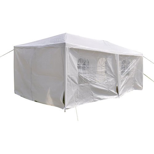 10 x 20 Foot Six Sides Two Doors Waterproof Foldable Tent White