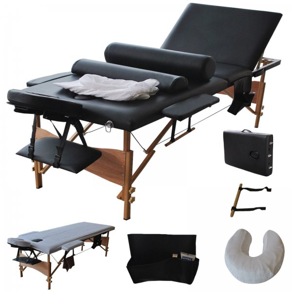 3 Folding Zero Gravity Reclining Lounge Chairs+Utility Tray Outdoor Beach Patio Black