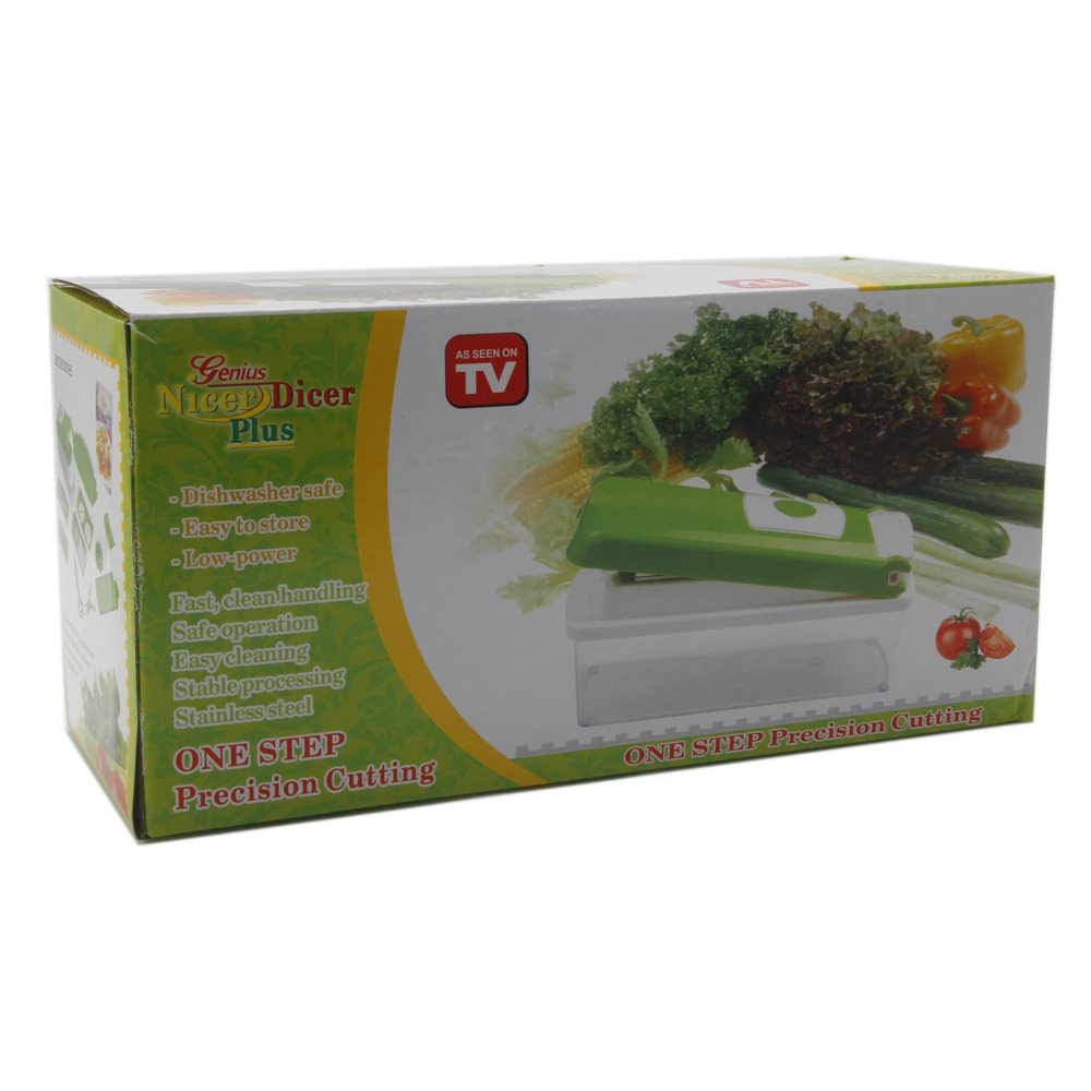 Multi-functional Vegetable Chopper Dicer Slicer Shredder 12-piece Set Green