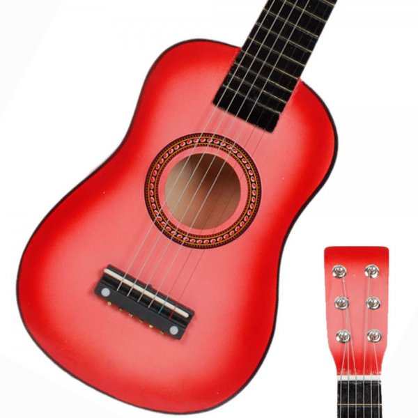 """23"""" Pink Toys Childrens Kids Acoustic Guitar & Pick & Strings"""