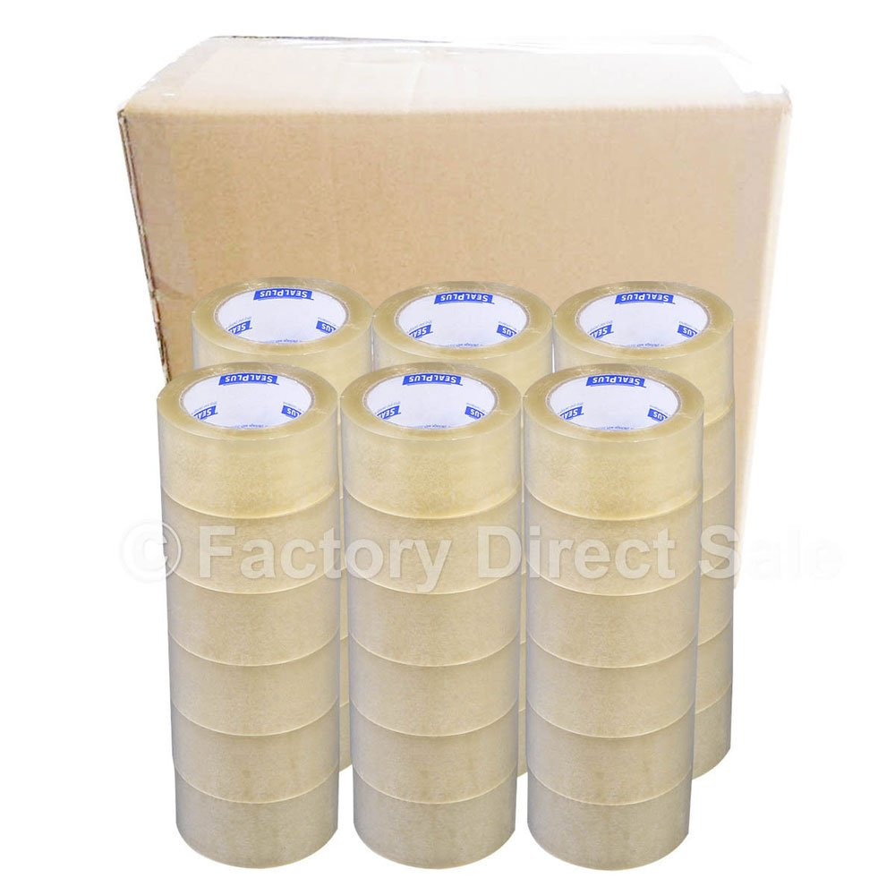 36 Rolls Clear Packaging Packing Box Sealing Adhesive Tape Transparent