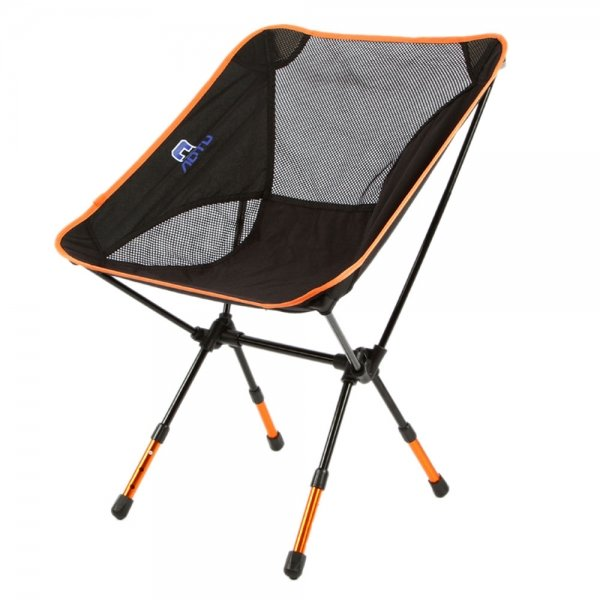 Outdoor Fishing Camping Portable Folding Chair Orange & Black
