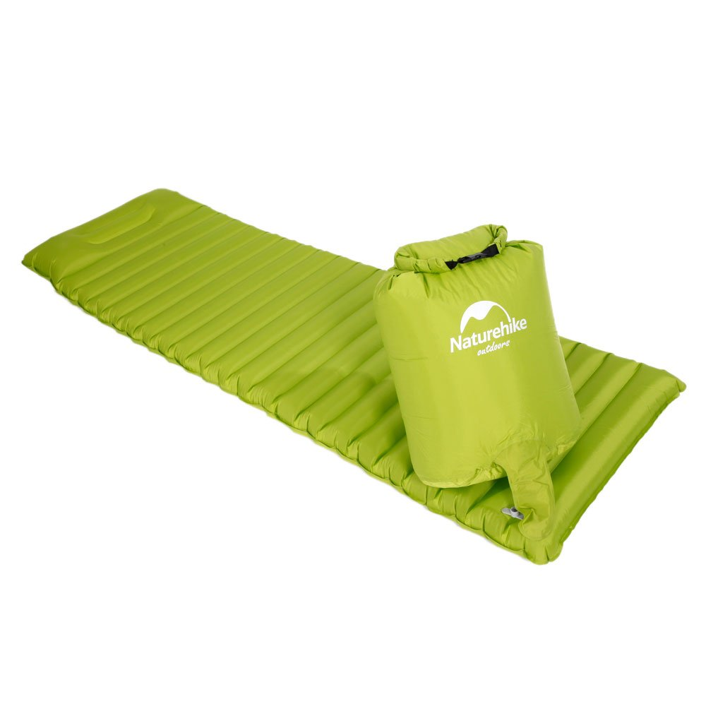 Naturehike Ultra Light Single Sleeping Pad Air Mattress with Pillow Green