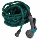 75FT Stretchable Garden Hose with Spray Nozzle (US Standard Connector) Dark Green