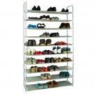 100cm Ultra Large Capacity 10 Layers Non-woven Fabrics & Steel Shoe Rack Gray