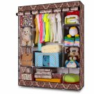 European-style Portable Wardrobe Clothes Closet Storage Rack Shelves Bedroom