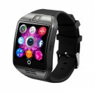 "Q18 1.54"" Curved Screen Bluetooth 3.0 SIM Card Smart Watch for Android Black"