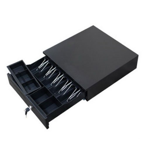 High-end Home Commercial Use Compartment Cash Box Black
