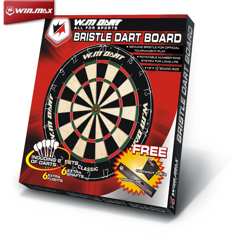 Winmax Classical Bristle Dart Board & 6pcs Darts Set