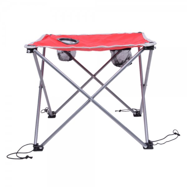 Outdoor Portable Oxford Cloth Folding Table Red