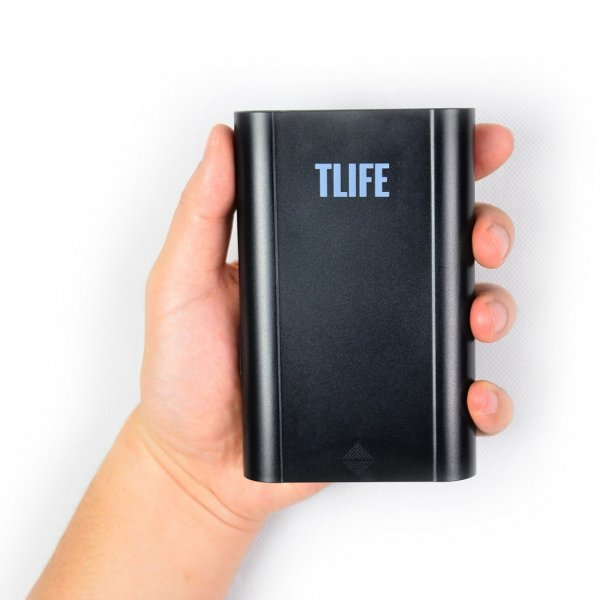 TLIFE Intelligent Portable 4 Slots 18650 Battery Charger Mobile Power Bank Black
