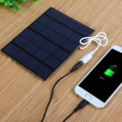 3.5W 6V Solar Panel DIY Power Bank Charger Black