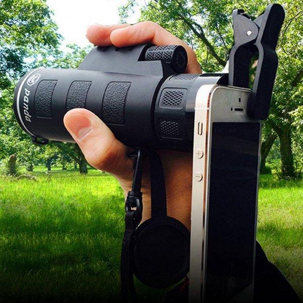 Universal 35 x 50 HD Camera Lens Zoom Monocular + Clip for Smartphone Black