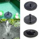 Floating Solar Light Water Fountain Lake Garden Stake Decoration Black