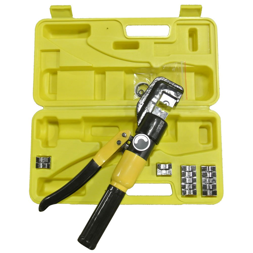 Domestic Use 10T Hydraulic Pliers with 9 Dies Black & Yellow