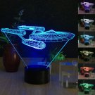 Creative 3D 7-Color LED Night Light Touch Switch USB Table Desk Lamp Decor