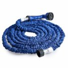 50FT 7-Mode Expandable Garden Water Hose Pipe with Spray Nozzle Blue